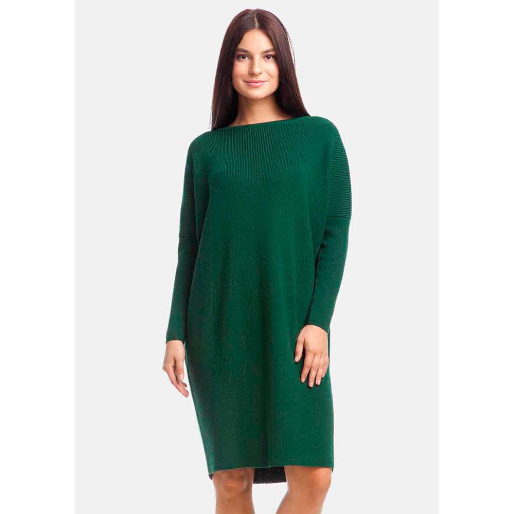 Платье-кокон RITO трикотажное зеленого цвета