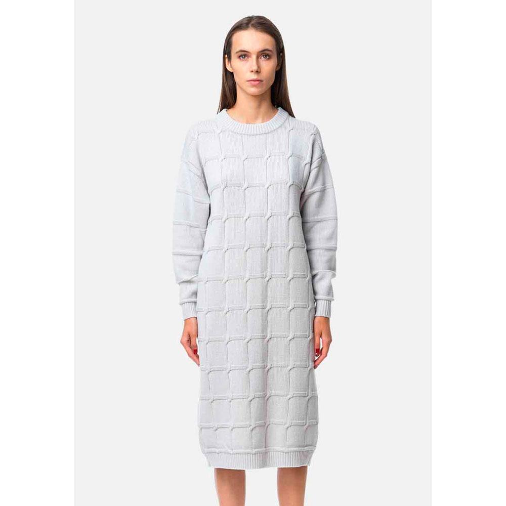 Платье-свитер RITO с фактурной узором-клеткой