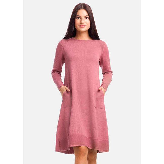 Платье с длинным рукавом RITO розового цвета