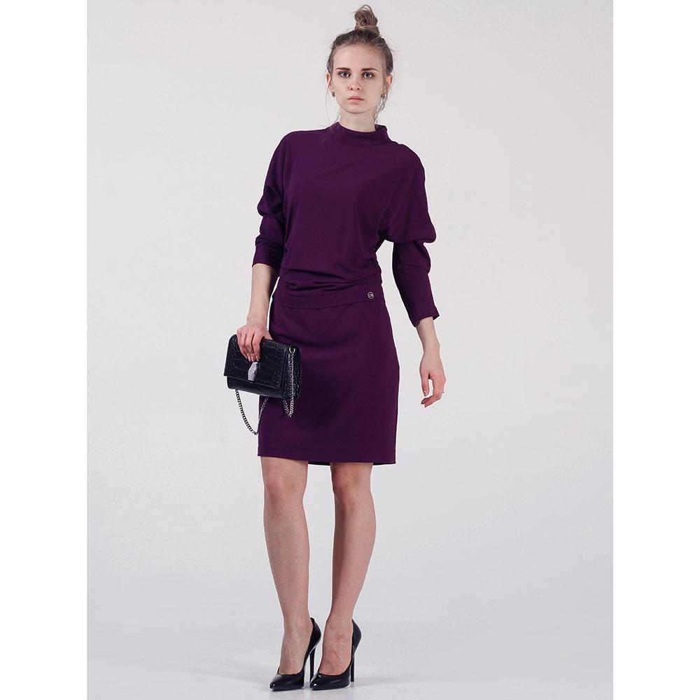 Свободное черное платье Cerruti с рукавами доломан