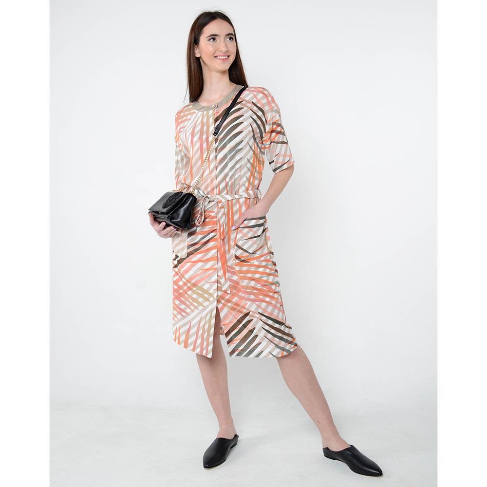 Легкое платье-халат Cerruti с ярким принтом