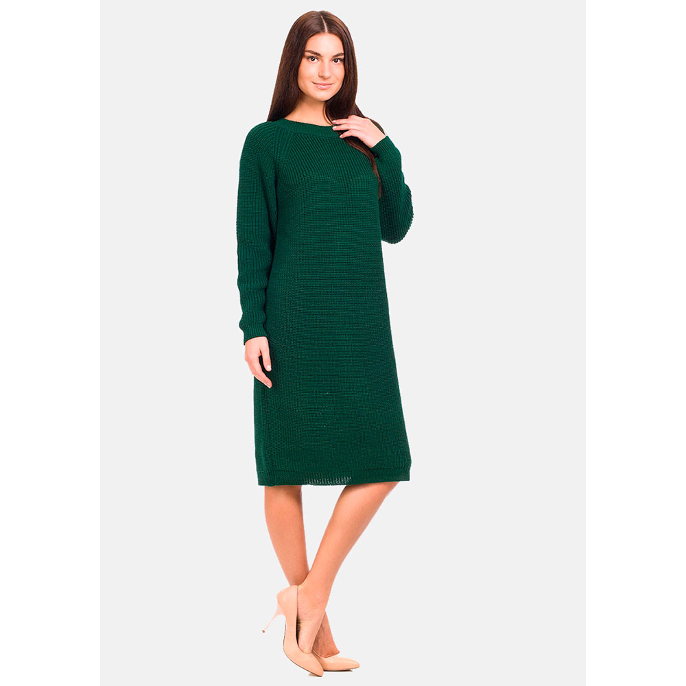 Зеленое платье RITO в рубчик