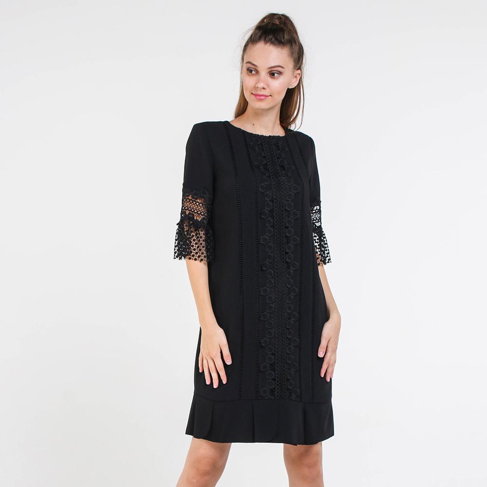 Черное платье Blugirl прямого кроя с кружевом