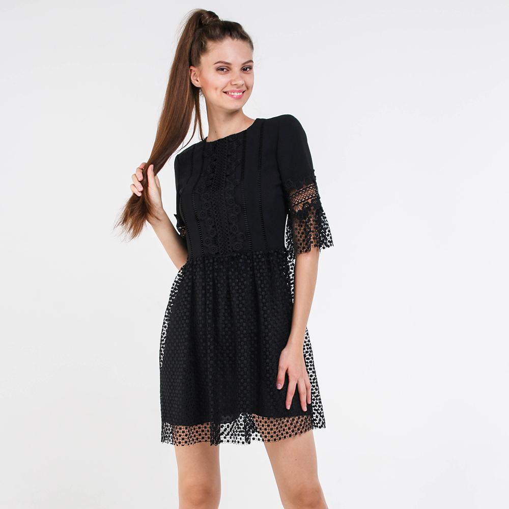 Кружевное платье Blugirl черного цвета