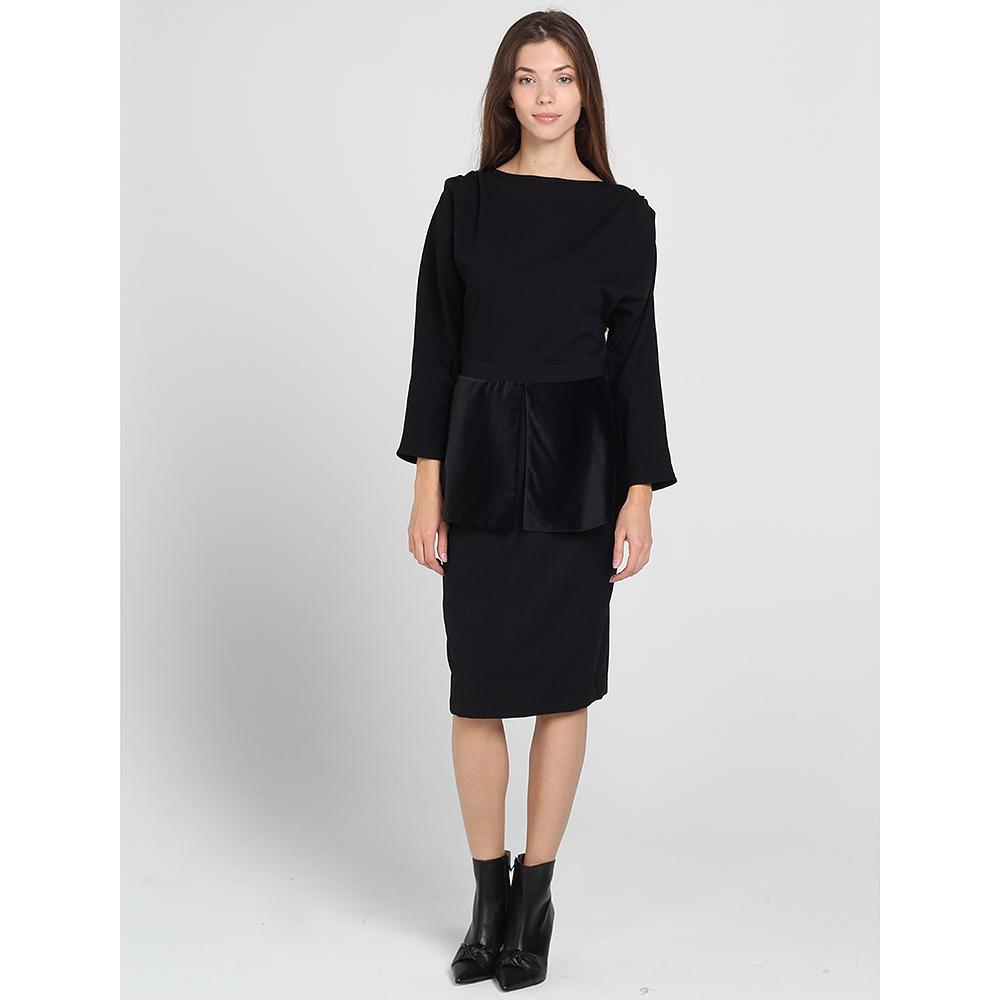 Платье с баской Kristina Mamedova черного цвета