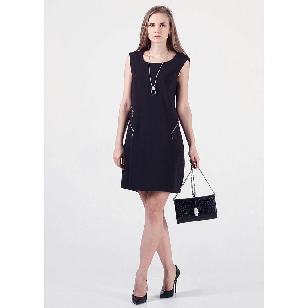 Черное платье Rinascimento с подвеской и декоративными молниями