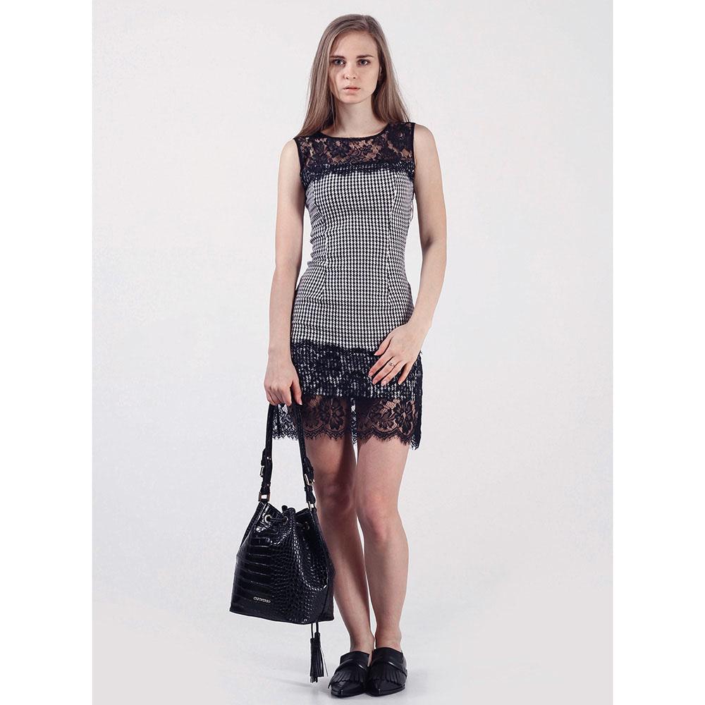 Платье Rinascimento серое с кружевом