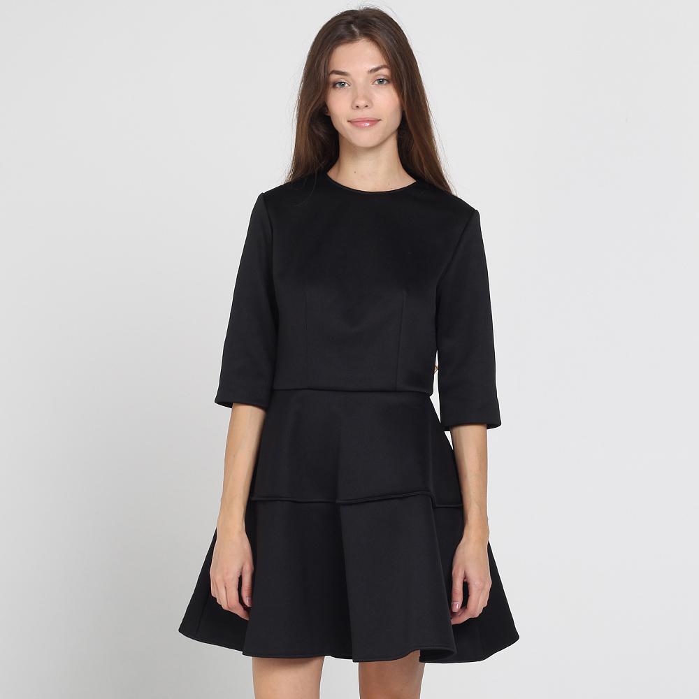 Черное платье Kristina Mamedova с расклешенной юбкой