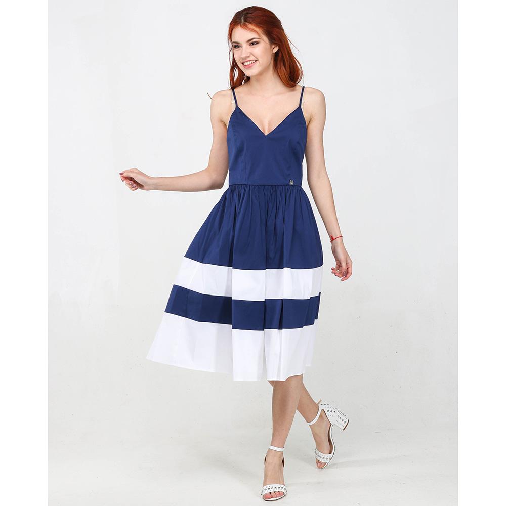 Платье Twin-Set Simona Barbieri синего цвета