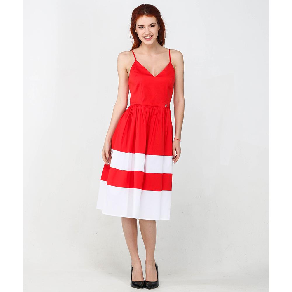 Платье Twin-Set Simona Barbieri красного цвета на бретельках