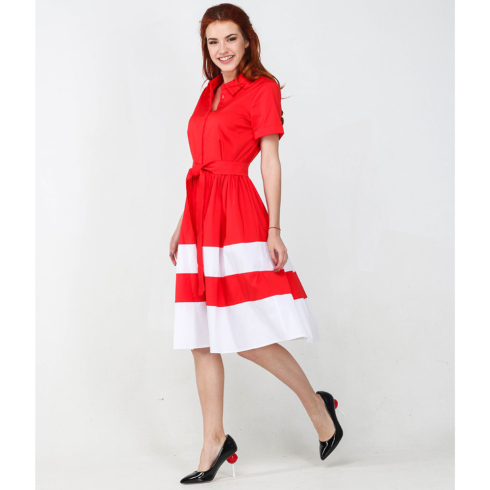 Красное платье Twin-Set Simona Barbieri до колен