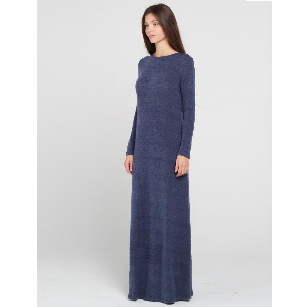 Трикотажное платье в пол Kristina Mamedova синего цвета