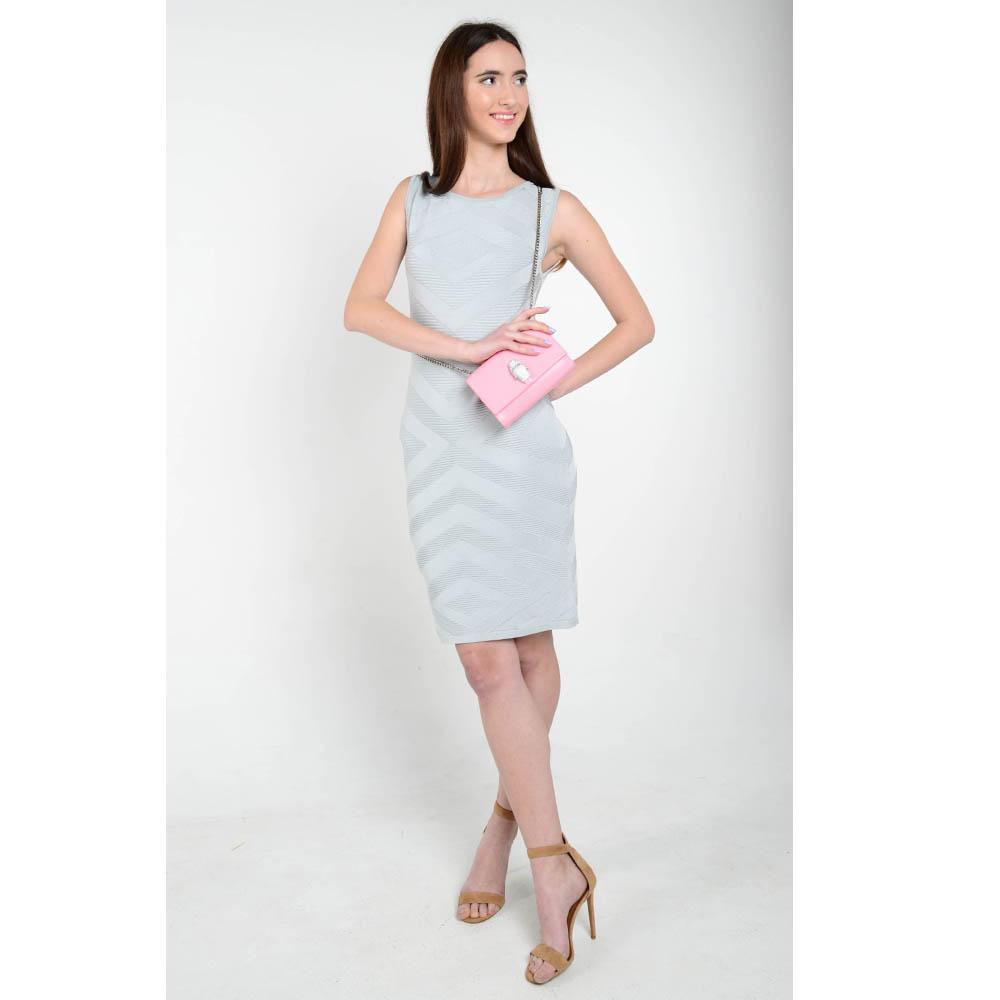 Трикотажное платье-футляр Cerruti серого цвета