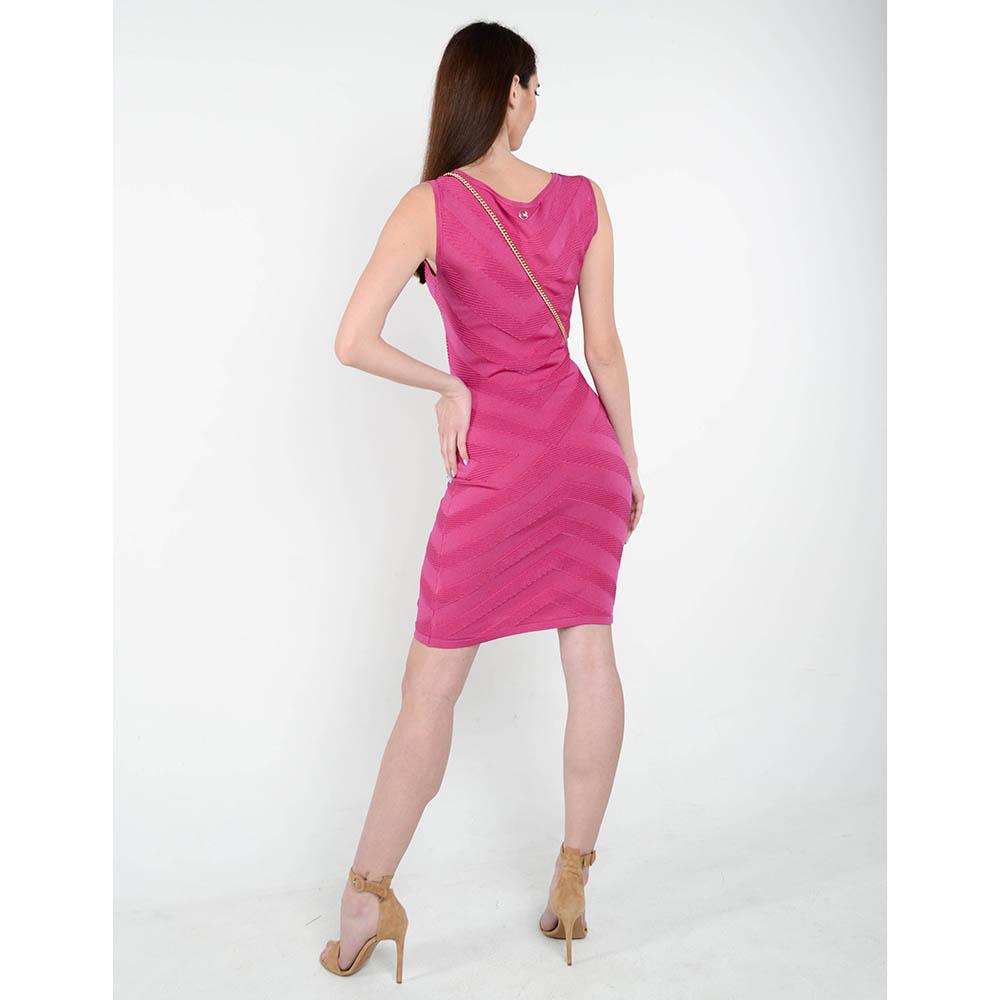 Трикотажное платье-футляр Cerruti розового цвета