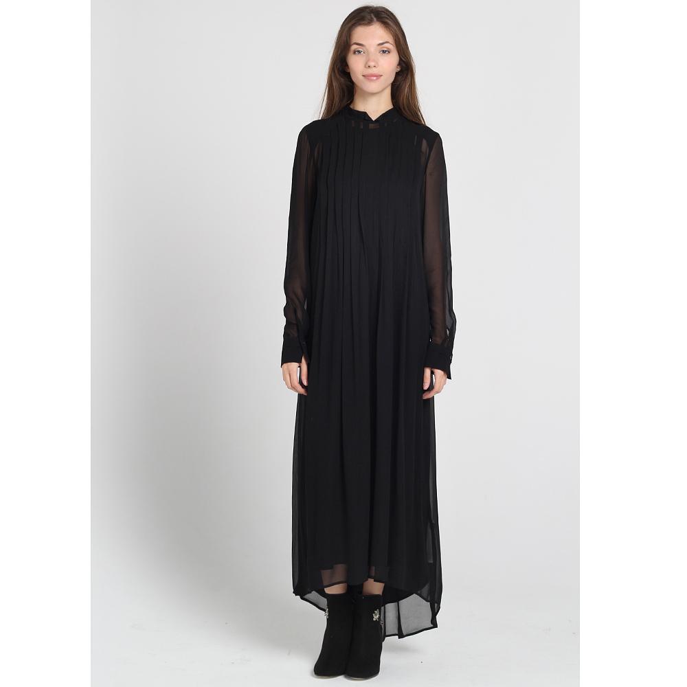 Шифоновое платье Twin-Set Simona Barbieri черного цвета