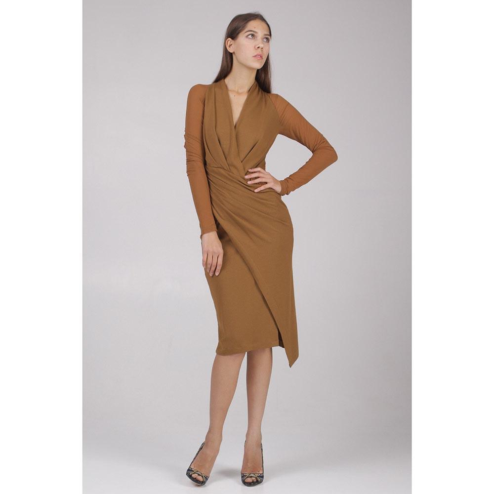 Платье Donna Karan с прозрачными рукавами