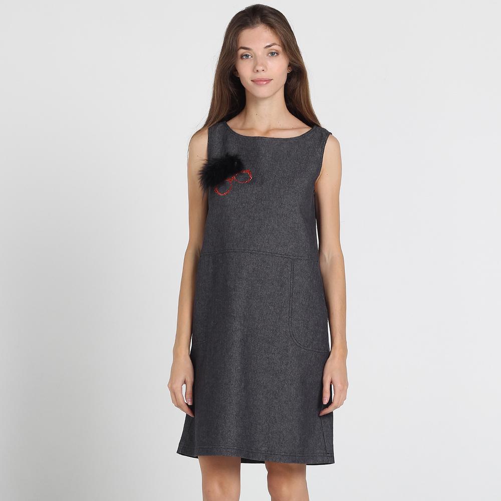 Серое платье-сарафан Atos Lombardini