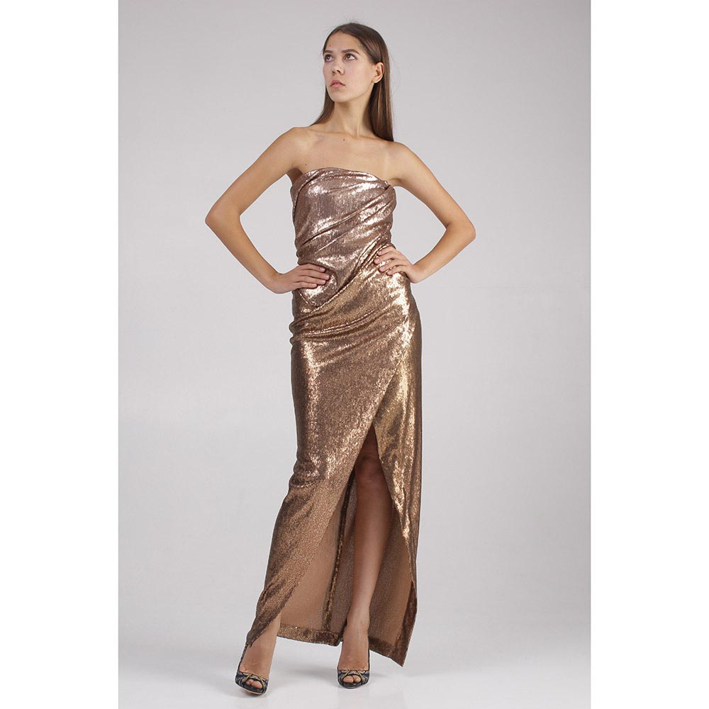 Длинное платье Donna Karan с пайетками