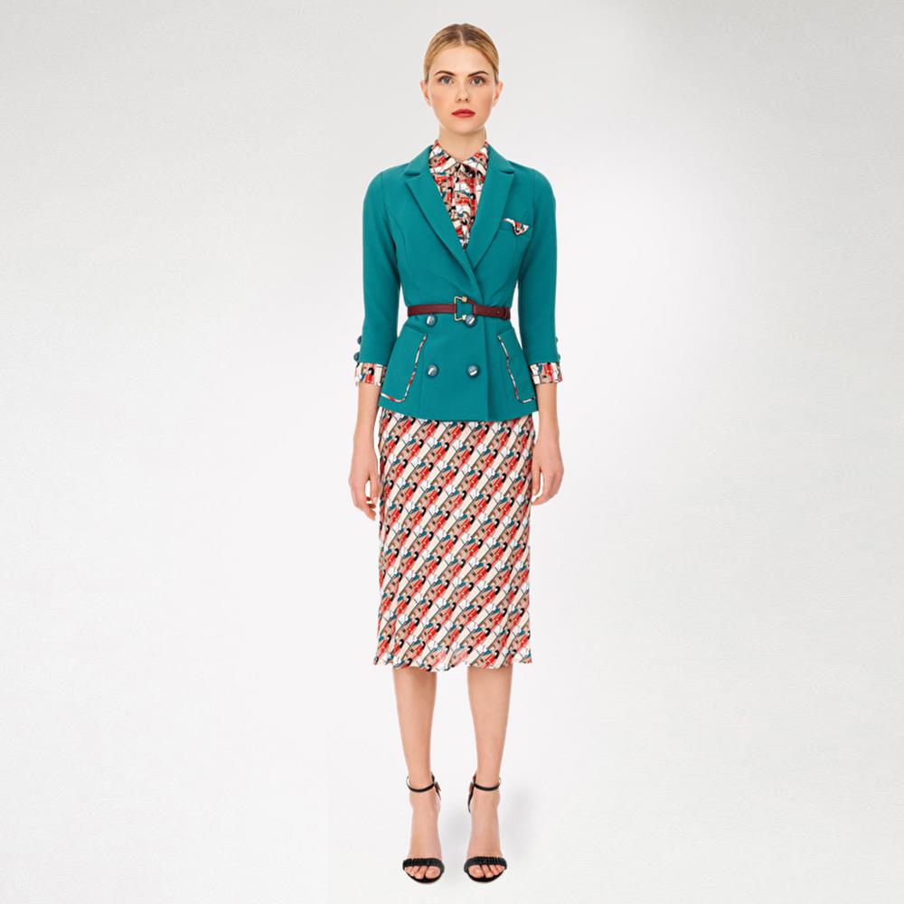 Платье Elisabetta Franchi с рукавами три четверти