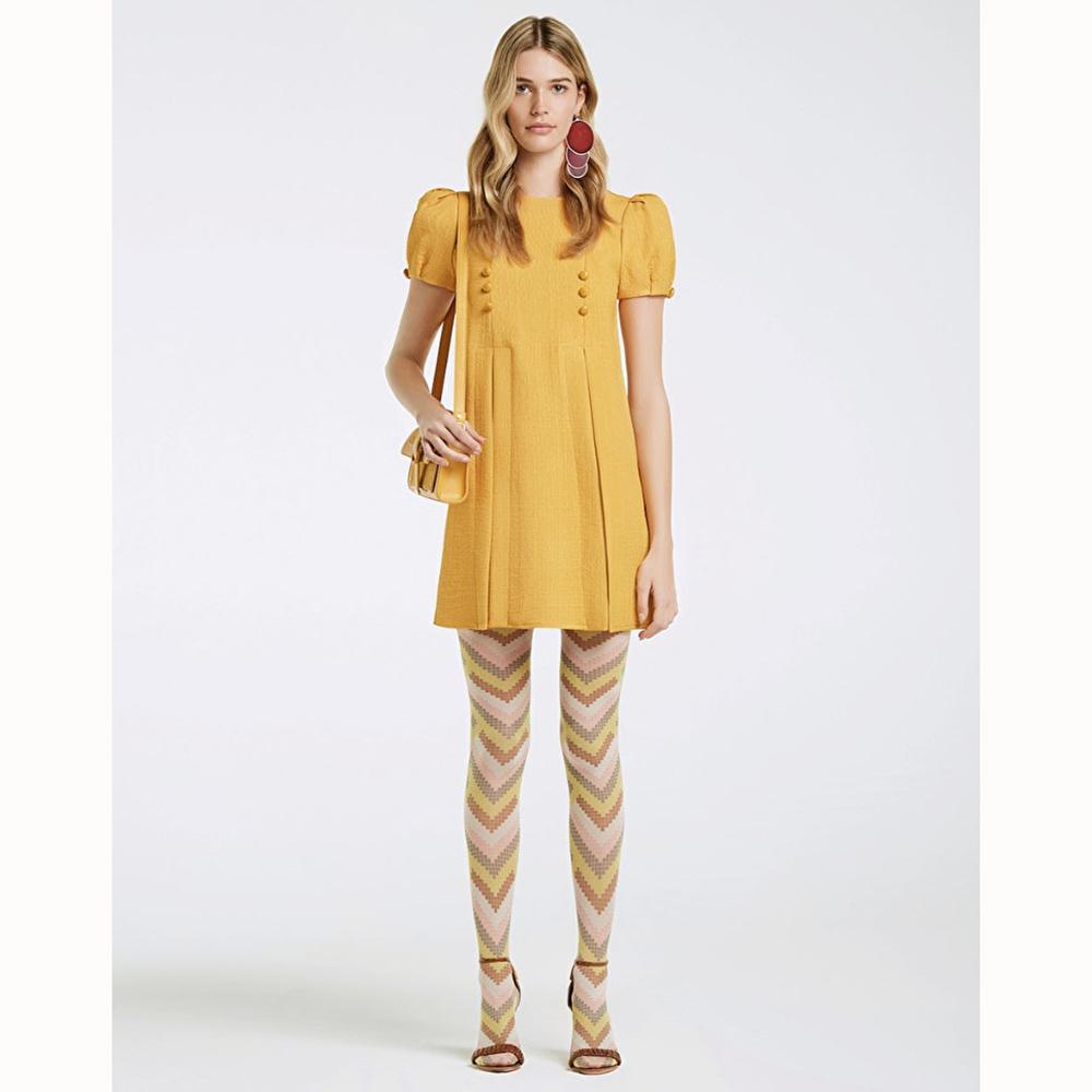 Платье Elisabetta Franchi желтого цвета