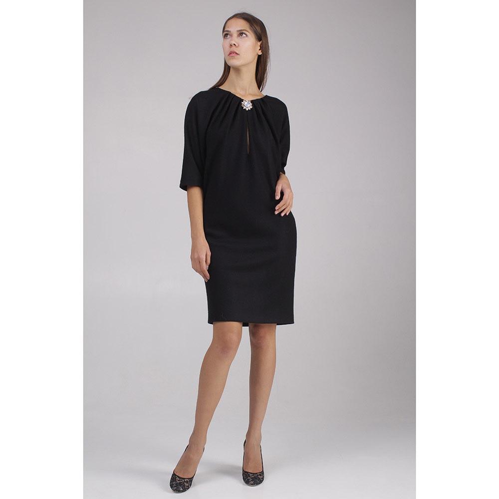 Платье черного цвета Roberto Cavalli с декором брошью