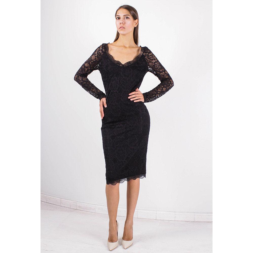 Платье с длинным рукавом FOREVER UNIQUE из черного кружева