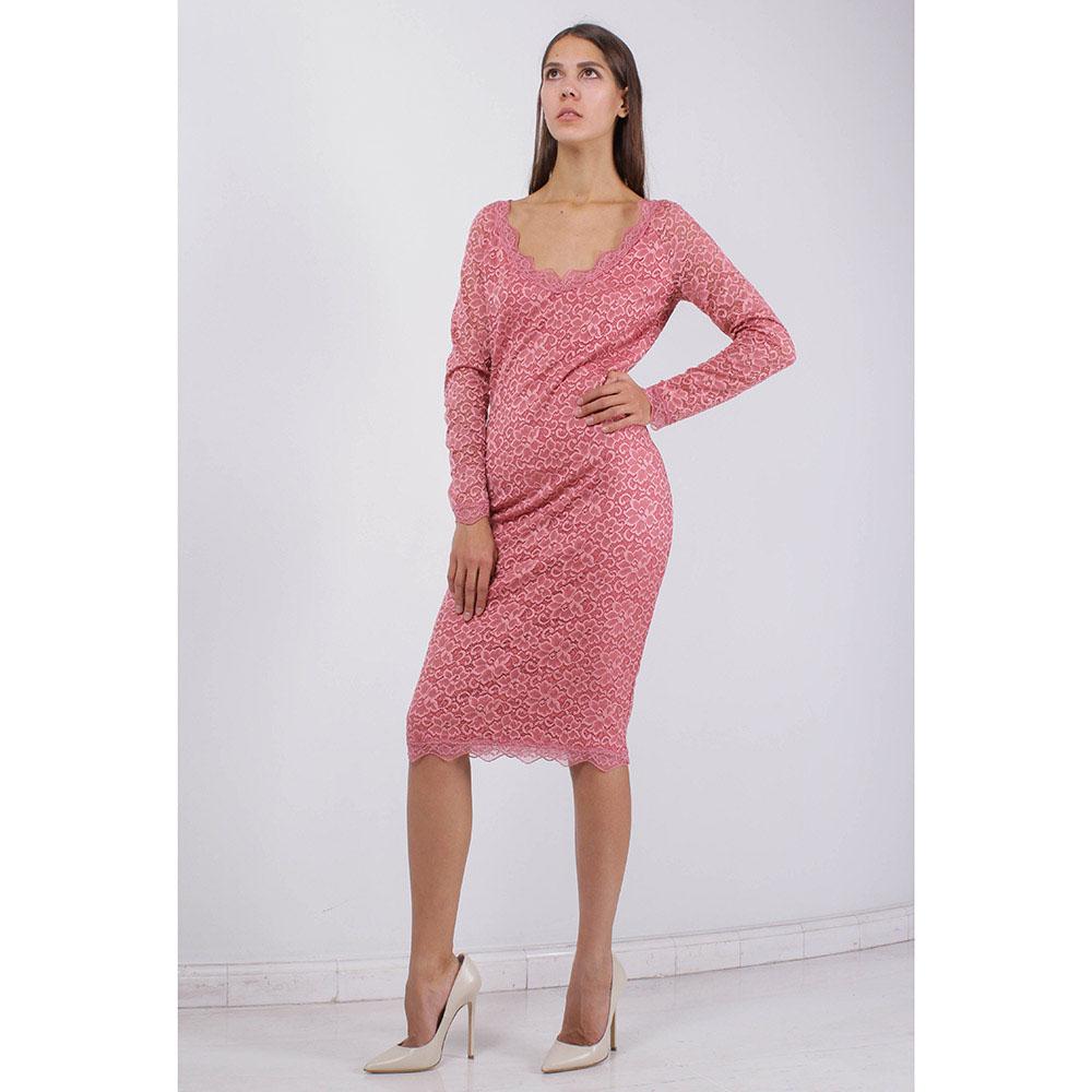 Кружевное платье FOREVER UNIQUE розового цвета