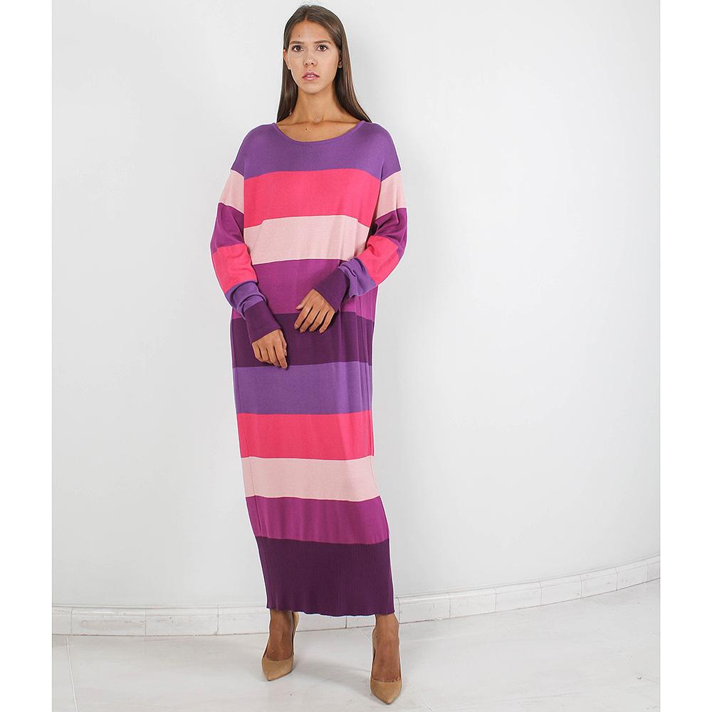 Длинное платье Forever Unique в розовую и фиолетовую полоску