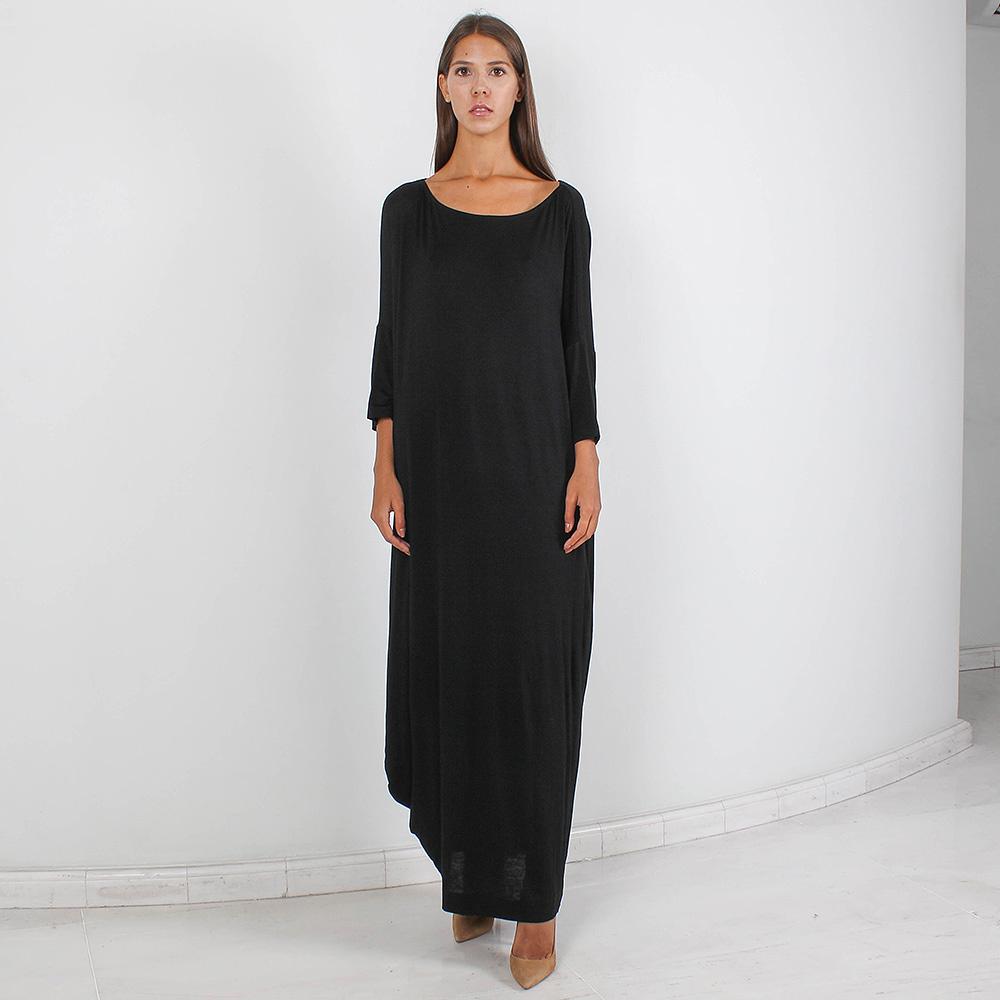 Длинное черное платье Forever Unique оверсайз