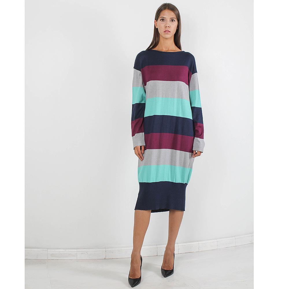 Трикотажное платье-миди Forever Unique в разноцветную полоску