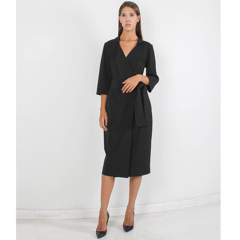 Черное платье-футляр Forever Unique с запахом