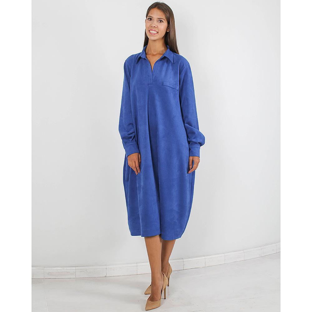 Платье-рубашка Forever Unique синего цвета оверсайз