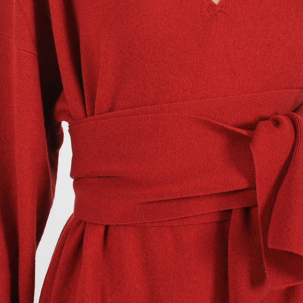Кашемировое платье Allude с широким поясом