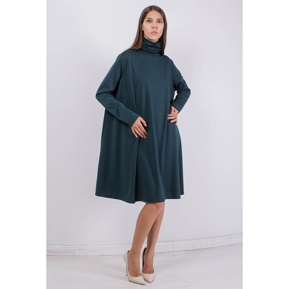 Платье-солнцеклеш Plein SUD зеленого цвета с длинным рукавом