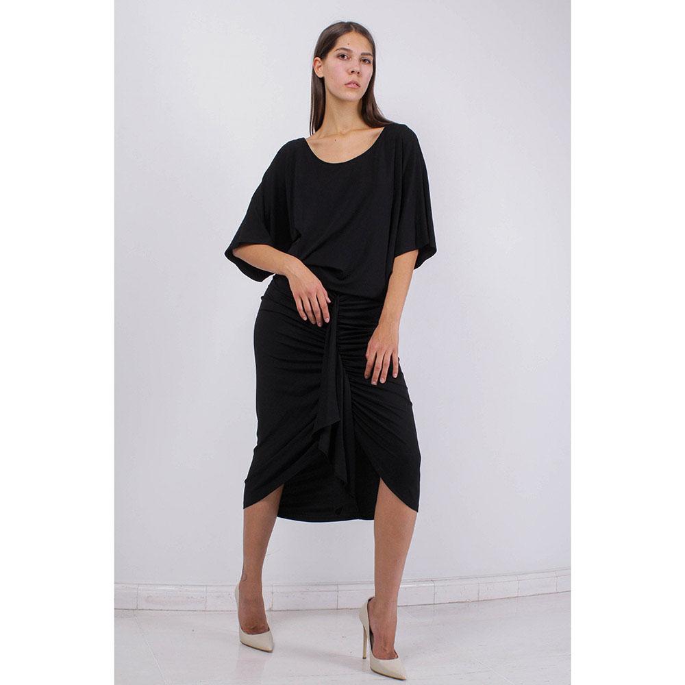 Черное платье Michael Kors с драпировкой на юбке