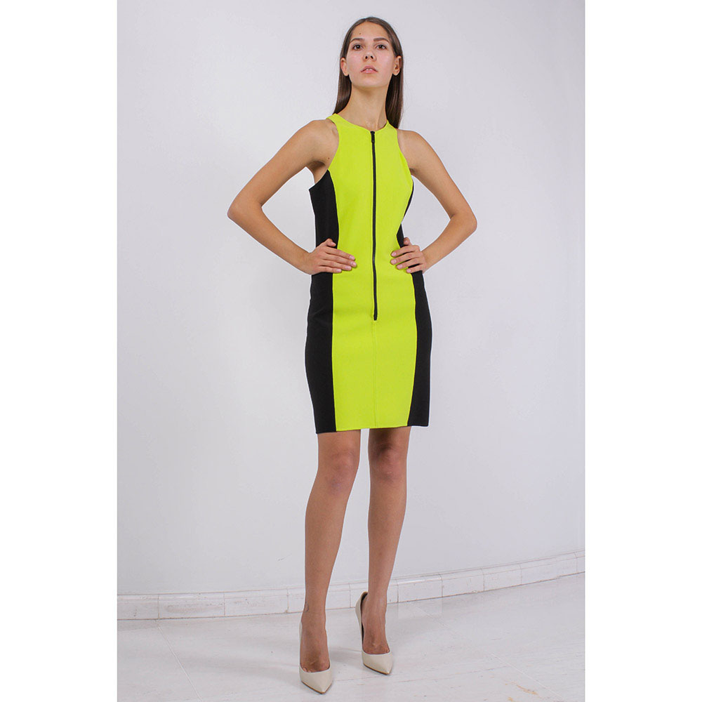 Платье-футляр Michael Kors зеленого цвета на молнии