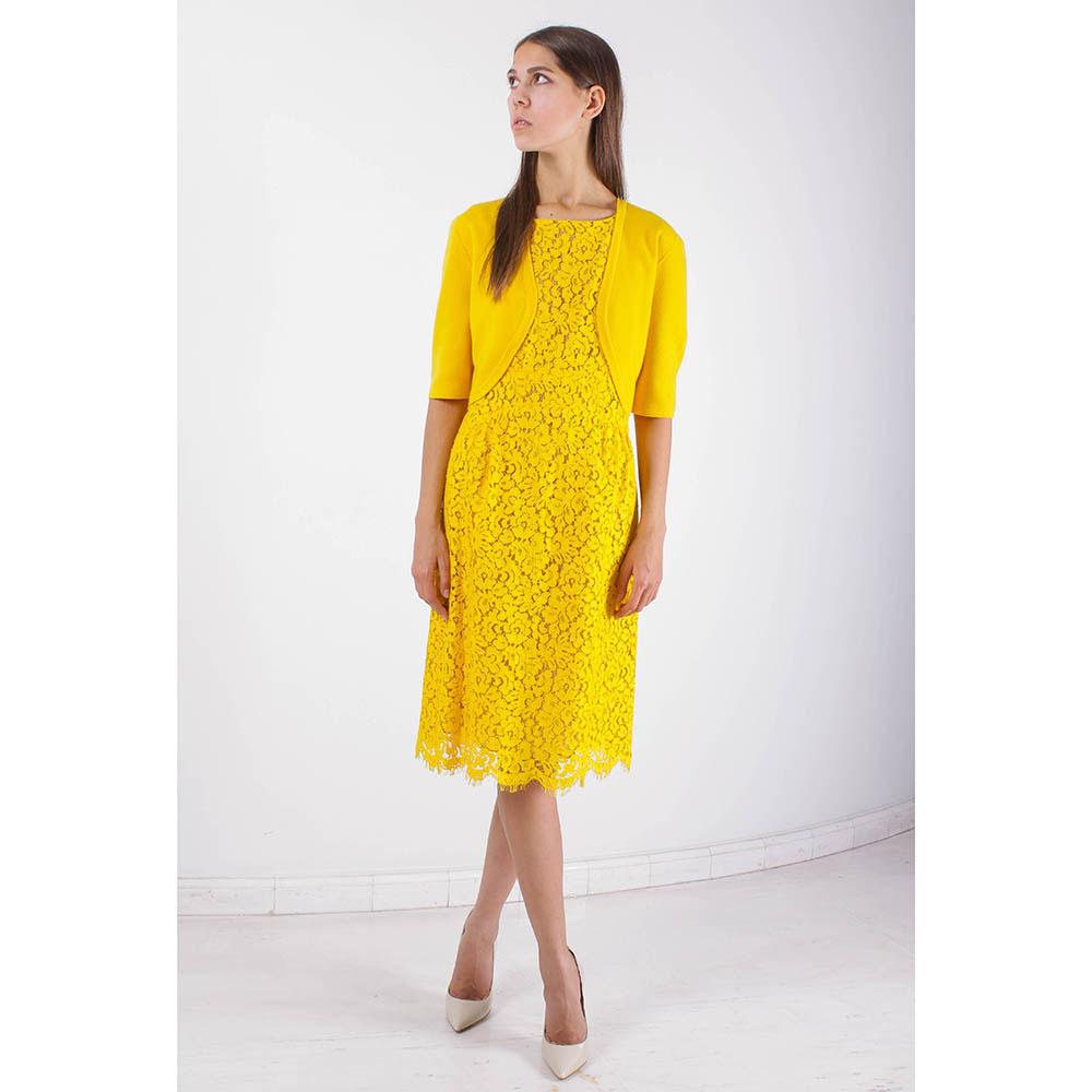 Кружевное платье Michael Kors желтого цвета