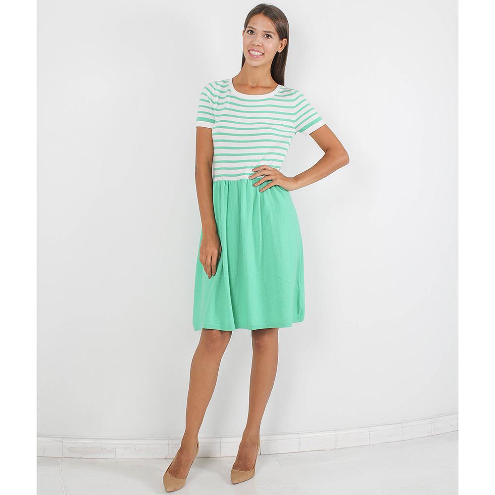 Платье Allude с расклешенной юбкой зеленого цвета