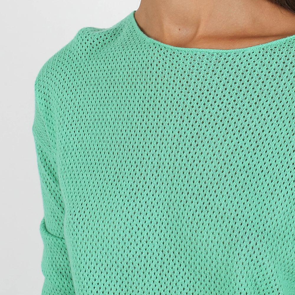 Вязаное платье-туника Allude мятного цвета