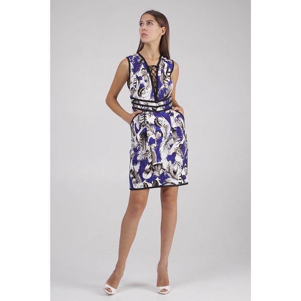 Платье Roberto Cavalli с принтом перьями
