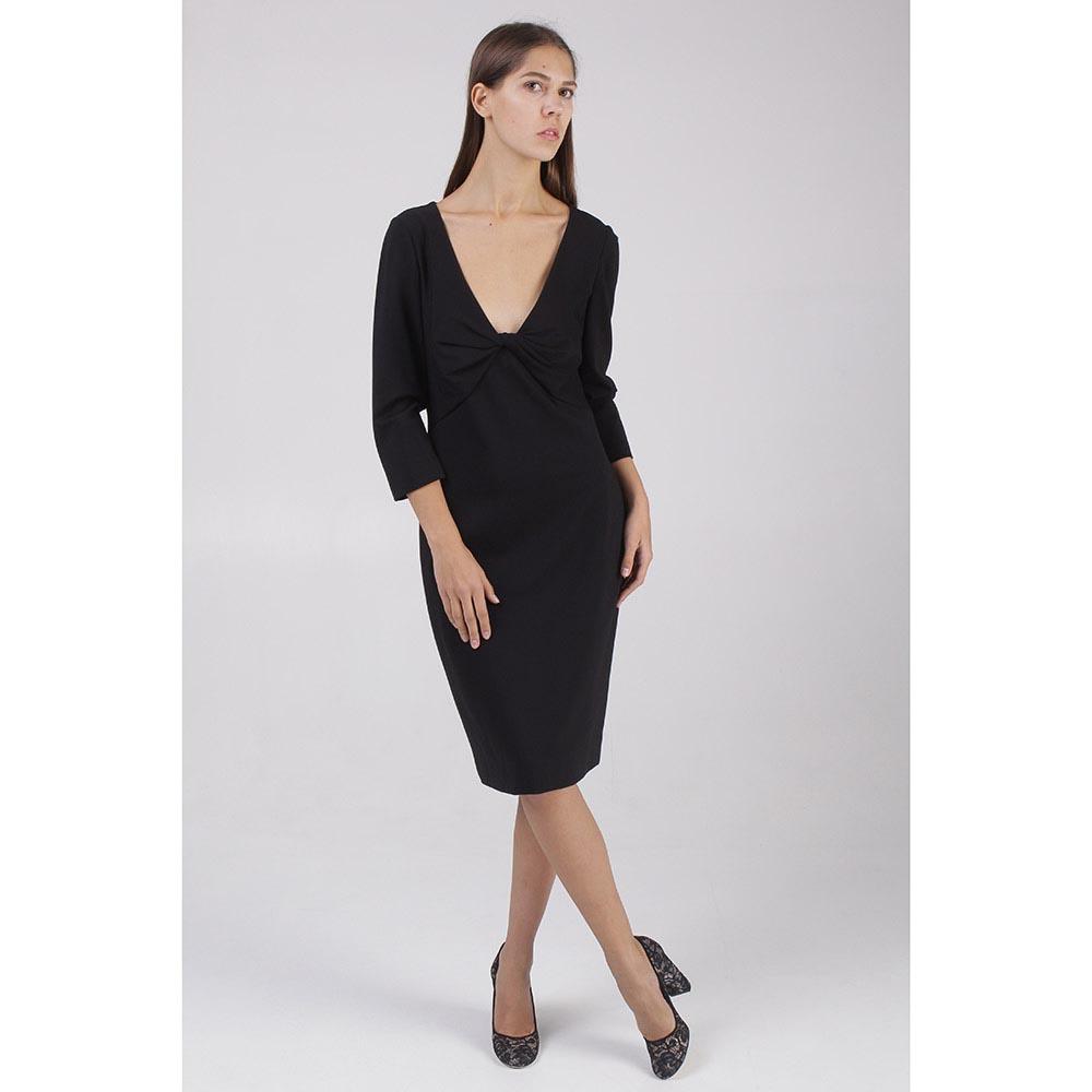 Черное платье DVF с укороченным рукавом