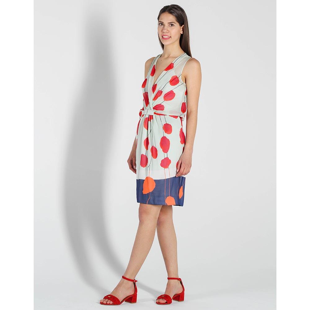 Шелковое платье DVF с цветочным принтом
