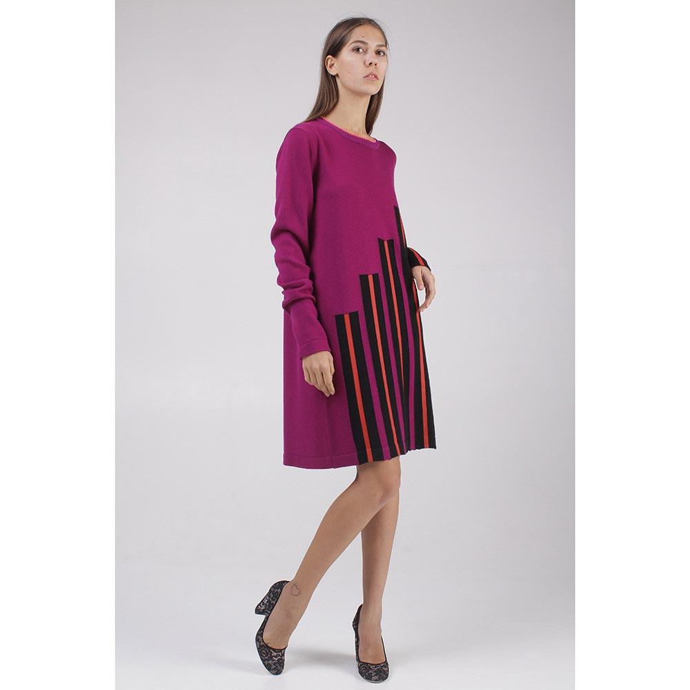 Платье Fendi в разноцветную полоску
