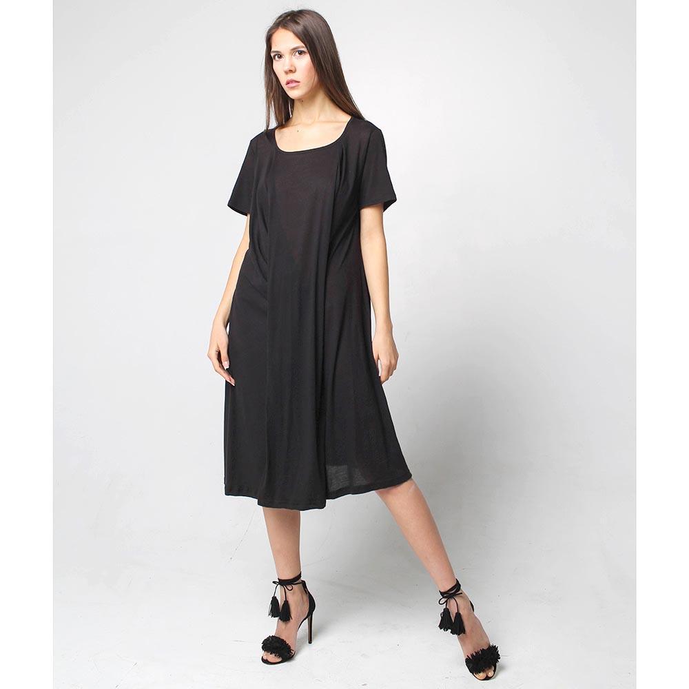 Расклешенное платье Joe Chia с коротким рукавом