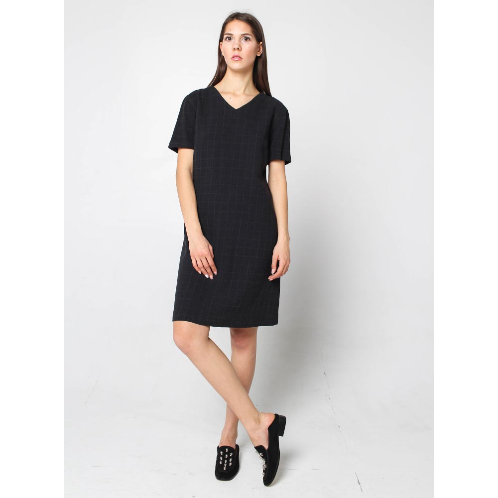 Платье Enzo Fusco с коротким рукавом в клетку