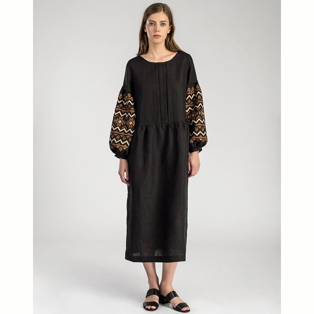 Платье с длинным рукавом  Etnodim черного цвета