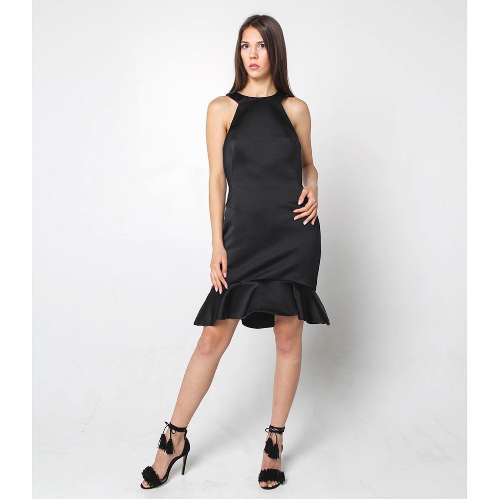 Черное платье Alexander McQueen с юбкой-годе