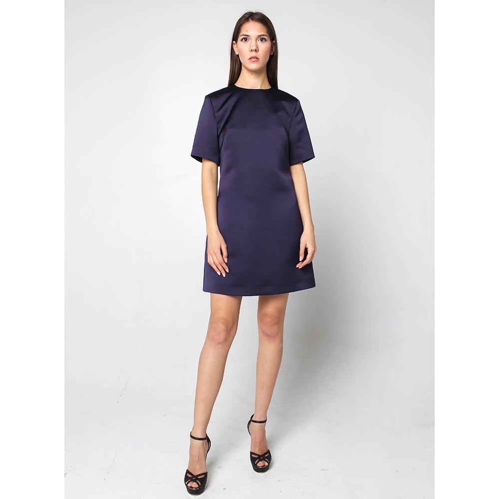 Платье-трапеция Alexander McQueen синего цвета
