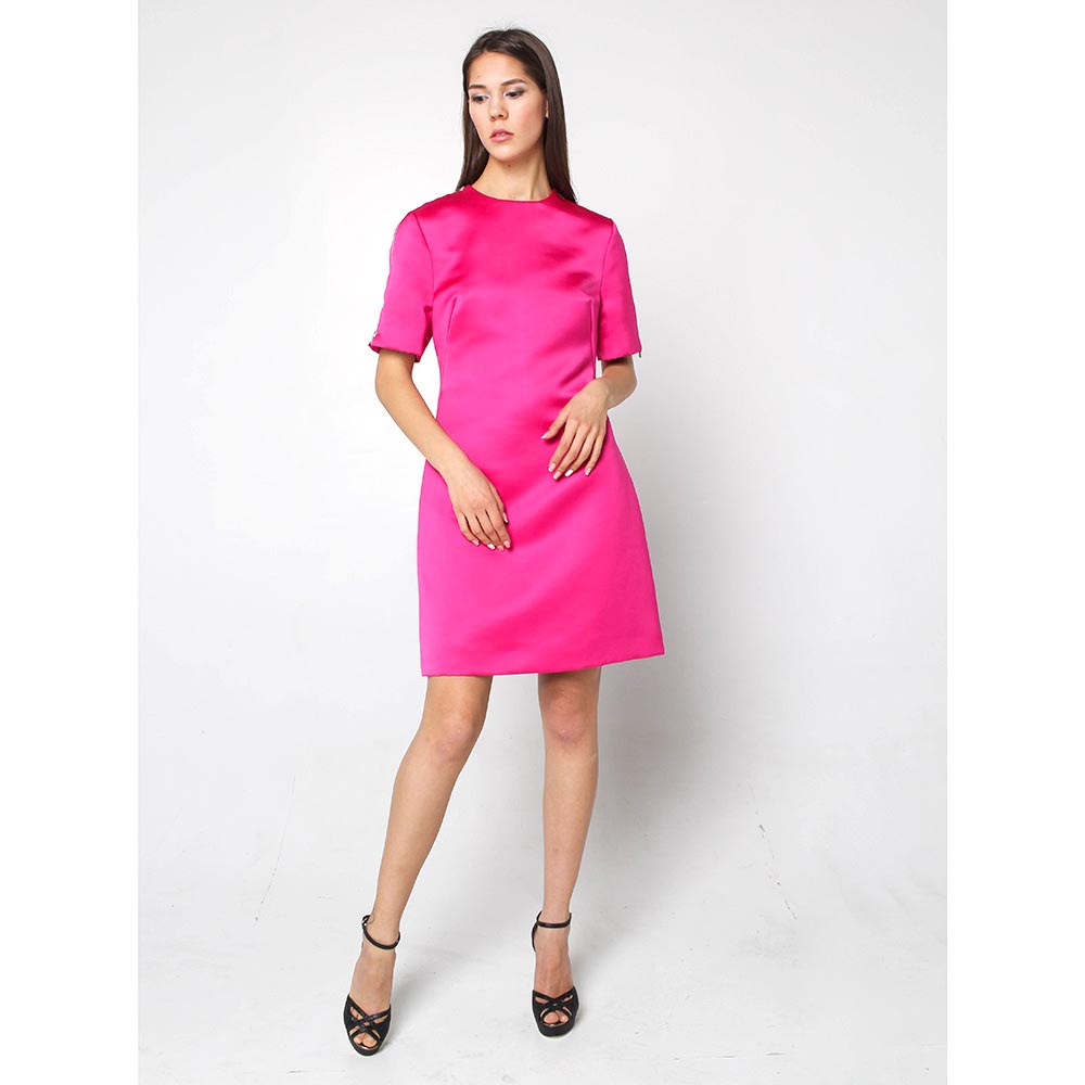 Платье Alexander McQueen розового цвета с молниями на плечах