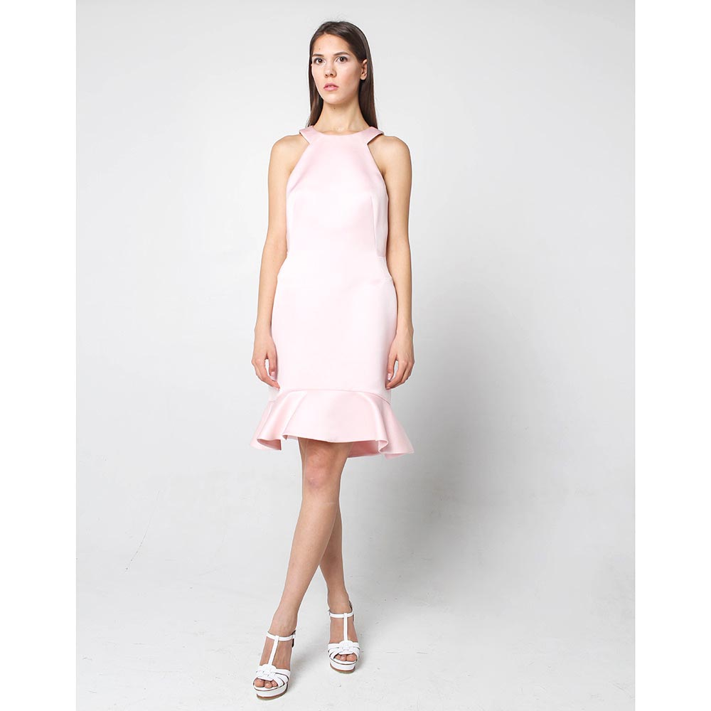 Платье с юбкой-годе Alexander McQueen розового цвета
